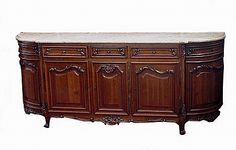 Continental Marble-Top Buffet from Beaux Arts Galleria