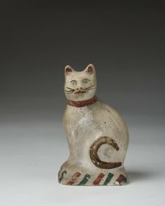 PA painted chalkware cat