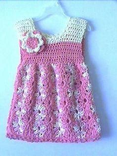 Crochet Baby Dress Patterns for Crochet Pattern Central, Crochet Girls Dress Pattern, Crochet Toddler Dress, Toddler Dress Patterns, Sundress Pattern, Crochet Baby Clothes, Sewing Patterns For Kids, Baby Patterns, Crochet Patterns