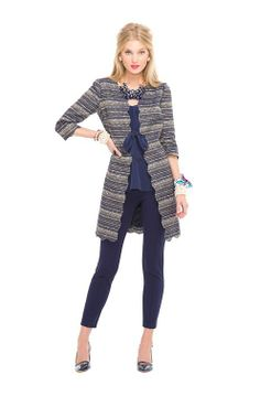 Harris Coat - THESE horiz. stripes would work for me because of the cut...