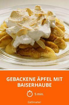 Gebackene Äpfel mit Baiserhaube - smarter - Zeit: 5 Min.   eatsmarter.de
