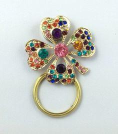 Set of 2 Fleur de Lis /& Round Brown Stone Eyeglass ID Badge Holder Pins