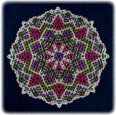 Holiday Time Doily Pattern | Bead-Patterns.com