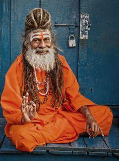 An elder in India by Mehmet Akin.