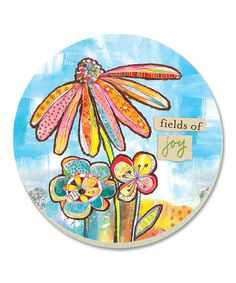 Fields of Joy Coaster - Set of Four by CounterArt #zulily #zulilyfinds