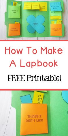 How To Make A Lapbook - The Relaxed Homeschool Interactive Learning, Interactive Notebooks, Learning Activities, Hands On Activities, Teach English To Kids, Learn English Grammar, Teaching English, Lap Book Templates, Mini Books