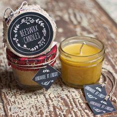 DIY: beeswax candles
