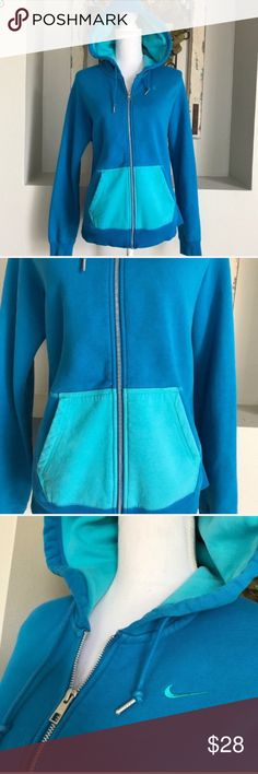 Nike Blue Zip Up Hoodie Nike Blue Zip Up Hoodie - Great used condition! Nike Sweaters