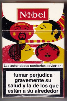 Nobel Cigarettes. Tobacco box collection by Ivan Solbes, via Behance
