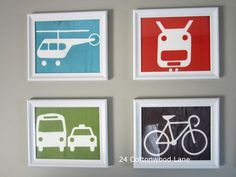 Easy and inexpensive art for a little boys room. Boys wall decor for under $12!