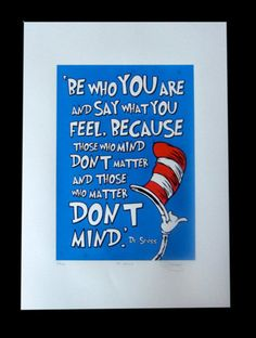 dr. suess those who matter don't mind