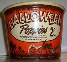 """Vintage Halloween Candy Bucket """"Front view"""" by riptheskull, via Flickr"""