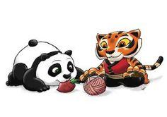 Baby Po and Cub Tigress by ViralJP