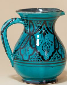 Moroccan Safi Design Water Jug in Green
