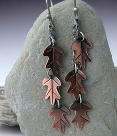 Falling Leaves Earrings Sterling Silver and by MetalworksJewelry, $48.00