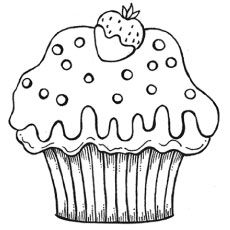 Cupcake Printable Coloring Pages Cakes and Ice Cream Pinterest