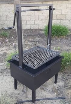 tailgater santa maria bbq pit grill 24 x 18 10 gauge Bbq Grill, Fire Pit Grill, Fire Pits, Fire Cooking, Outdoor Cooking, Santa Maria Bbq, Cheap Outdoor Fire Pit, Backyard Bbq Pit, Wood Charcoal