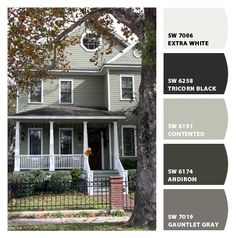 Farmhouse Exterior Colors modern exterior paint colors for houses | house colors, exterior