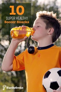 10 healthy soccer snacks that will keep the kids satisfied and playing their best.
