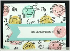 barnyard babies stampin up Toddler Crafts, Preschool Crafts, Crafts For Kids, Cow Clipart, Barn Wood Crafts, Card Making Techniques, Baby Cards, Thank You Cards, Stampin Up