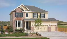 The Hemingway floor plan offers a variety of exterior options, including this model with a bay window, covered entry and second garage door.   Available in CO, FL, MD, NJ, UT & VA. #RADreamCollection