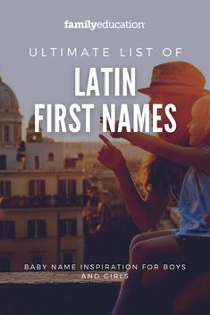 Need some baby name inspiration? Many of these Latin first names for boys and girls are traditional, but many of them are also quite rare. #babyname #Latinnames #traditionalnames