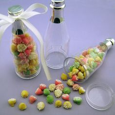Idea for a favor for adults at gotcha day party. Plastic Fillable Favor Bottles ( 12 per pack ) 3653_CLEAR-NS