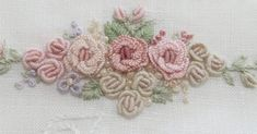 I just know that through every job I can and . Hand Embroidery Videos, Hand Embroidery Art, Embroidery Flowers Pattern, Embroidery Jewelry, Flower Patterns, Embroidery Stitches, Embroidery Designs, Brazilian Embroidery, Needlework