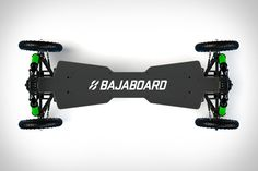 The design of most powered skateboards confines them to the relatively smooth pavement of city sidewalks. The Bajaboard can handle far rougher terrain. Diy Electric Skateboard, Off Road Experience, Board Skateboard, Water Crafts, My Ride, Skateboards, Tech Gadgets, Toys For Boys, Cars