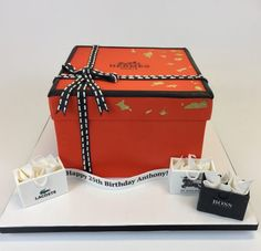 3D Hermes box Cake