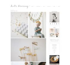 Really lovely blog by kelli murray - muted colours throughout content and surroundings, and simple layout - just perfect.