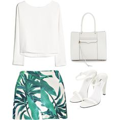 Outfit Idea by Polyvore Remix by polyvore-remix on Polyvore featuring MANGO, Boohoo, Topshop and Rebecca Minkoff