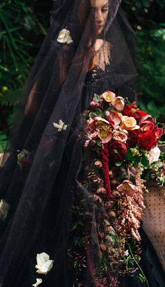dark bridal look