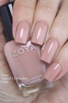 """Zoya """"Cathy"""" (Naturel 3 Collection) – Augen Make-up & Nageldesign Fancy Nails, Cute Nails, Pretty Nails, Perfect Nails, Gorgeous Nails, Grow Long Nails, Long Nail Designs, Neutral Nails, Nagel Gel"""