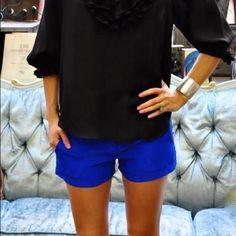 "Cobalt Blue Old Navy Shorts Old Navy cotton twill shorts. 97% Cotton 3% Spandex. 3"" Inseam. Old Navy Shorts"