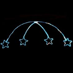 outdoor christmas star light   about NEW Outdoor LED Flashing Christmas Rope Light Shooting Star ...