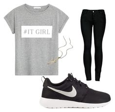 """""""⚪️⚫️"""" by jannekeheuver on Polyvore featuring mode, MANGO, 2LUV, NIKE en maurices"""