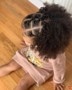 Kids Hairstyles For Wedding, Cute Toddler Hairstyles, Kids Curly Hairstyles, Baby Girl Hairstyles, Natural Hairstyles For Kids, Baddie Hairstyles, Little Mixed Girl Hairstyles, Bridesmaid Hair Side, Curly Hair Styles