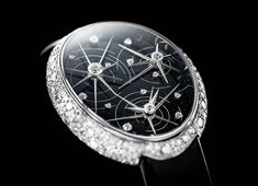 """Van 'T Hoff Born to Shine Art Watch From the far far away milky way, Van'T Hoff brings to you """"Born to Shine"""" a truly dazzling ladies' limited edition watch. Plunge into this truly magical cosmic creation inspired from the depths of the galaxy itself. Glittering Lights, Art Watch, Limited Edition Watches, Interstellar, Milky Way, Diamond Heart, Stargazing, Cosmic, Jewelry Watches"""