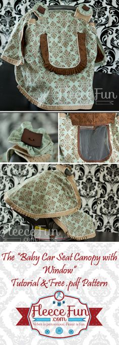 You can make a baby car seat canopy with a window.  Free pdf pattern.