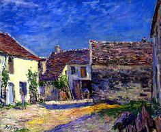 Farmyard near Moret - July Sun Alfred Sisley - 1880