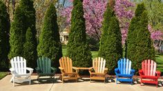 Multicolored Recycled Plastic Adirondack Chairs Outdoor Chairs, Outdoor Furniture, Outdoor Decor, Recycled Plastic Adirondack Chairs, Outdoor Living, Recycling, Outdoor Life, Garden Chairs, The Great Outdoors