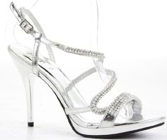 59824b2df Womens Party Platform Sandals High Heels Stiletto Prom Peeptoe Strappy Shoes  Size 3-8