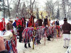 New Year's Traditions and Customs in Romania. Visit Romania, City People, Old Pictures, Ukraine, Opera, Beautiful Pictures, Vogue, Costumes, Traditional