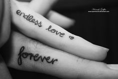 "Finger tattoo ""Love"" ....Love this idea however I am pretty convinced in my own mind that any tattoo that pertains to your partner is bad luck...otherwise I'd do it lol"