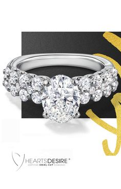 Convey your devotion with this diamond setting in 18 karat white gold, featuring three rows of round, ideal-cut diamonds from Hearts Desire. Diamond Wedding Rings, Diamond Rings, Diamond Engagement Rings, Wedding Bands, Ideal Cut Diamond, Diamond Cuts, Piercings, Fashion Moda, Diamond Are A Girls Best Friend
