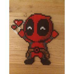 Deadpool perler beads by pomelo.princess