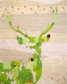 omg green stag quilt - for henry