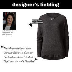 Auch wir sind in love mit dem August-Liebling unser Designchefin Jutta – dem Oversized-Pullover der Linie Collection. #zero #zerofashion