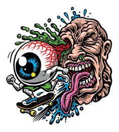 Eye Skate sticker (full color silkscreened clear vinyl) from… – Graffiti World Graffiti Drawing, Graffiti Lettering, Graffiti Art, Art Drawings Sketches, Cool Drawings, Tattoo Drawings, Skull Drawings, Art Tattoos, Arte Bob Marley